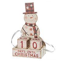 Snowman Countdown Blocks Christmas Table Decor