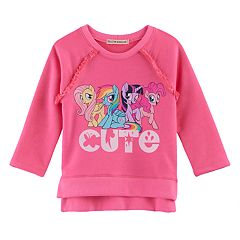Girls 4-7 My Little Pony: The Movie Fluttershy, Rainbow Dash, Twilight Sparkle & Pinkie Pie 'Cute' High-Low Top
