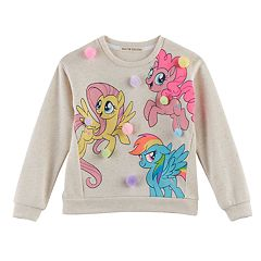 Girls 4-7 My Little Pony: The Movie Fluttershy, Rainbow Dash & Pinky Pie Pom Pom Top