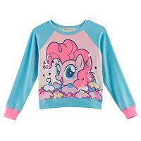 Girls 4-7 My Little Pony: The Movie Pinkie Pie Raglan Top