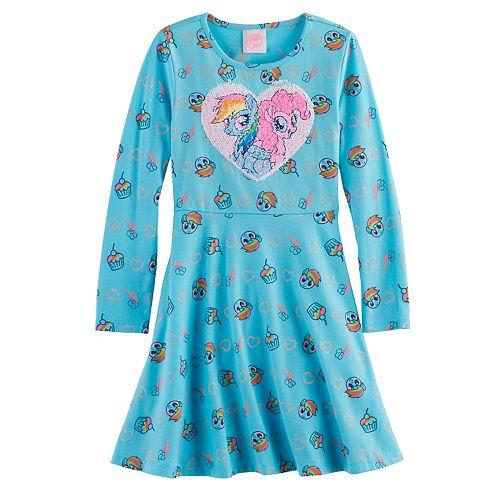 Girls 4-7 My Little Pony Rainbow Dash Flip Sequins Skater Dress