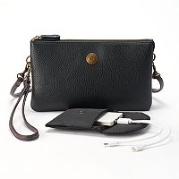 Stone & Co. Trifecta Pebbled Leather Phone Charging Convertible Crossbody Bag