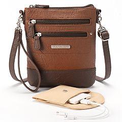 Stone & Co. Nancy Leather 3-Bagger Phone Charging Convertible Crossbody Bag