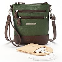Stone & Co. Nancy Leather 3-Bagger Phone Charging Convertible Crossbody Bag