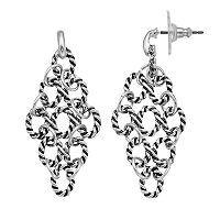 Dana Buchman Twisted Link Kite Earrings