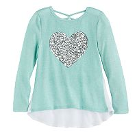 Girls 7-16 Miss Chievous Sequin Tulip Hem Hatchi Top