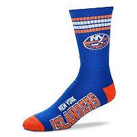 Adult For Bare Feet New York Islanders Deuce Striped Crew Socks
