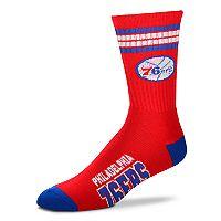 Adult For Bare Feet Philadelphia 76ers Deuce Striped Crew Socks