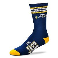 Adult For Bare Feet Utah Jazz Deuce Striped Crew Socks