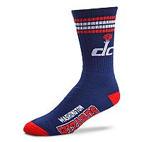 Adult For Bare Feet Washington Wizards Deuce Striped Crew Socks