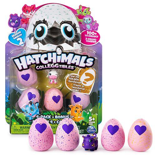 Hatchimals CollEGGtibles Season 2 - 4-Pack + Bonus by Spin Master