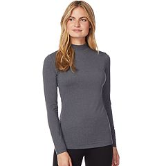 Women's Heat Keep Base Layer Mock Neck Long Sleeve Top