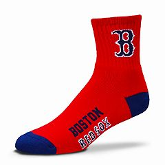 Adult For Bare Feet Boston Red Sox Team Color Quarter-Crew Socks