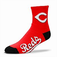 Adult For Bare Feet Cincinnati Reds Team Color Quarter-Crew Socks