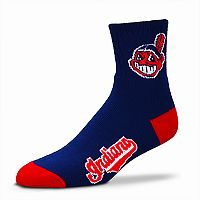 Adult For Bare Feet Cleveland Indians Team Color Quarter-Crew Socks