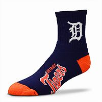 Adult For Bare Feet Detroit Tigers Team Color Quarter-Crew Socks
