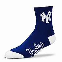 Adult For Bare Feet New York Yankees Team Color Quarter-Crew Socks