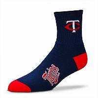 Adult For Bare Feet Minnesota Twins Team Color Quarter-Crew Socks