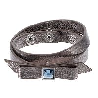 Simply Vera Vera Wang Bow Faux Leather Wrap Bracelet
