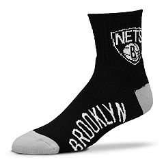 Adult For Bare Feet Brooklyn Nets Team Color Quarter-Crew Socks