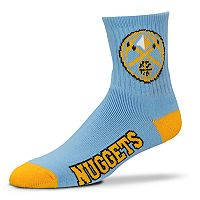Adult For Bare Feet Denver Nuggets Team Color Quarter-Crew Socks