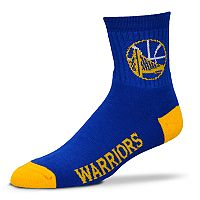 Adult For Bare Feet Golden State Warriors Team Color Quarter-Crew Socks