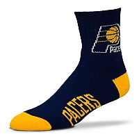 Adult For Bare Feet Indiana Pacers Team Color Quarter-Crew Socks