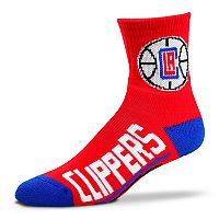 Adult For Bare Feet Los Angeles Clippers Team Color Quarter-Crew Socks