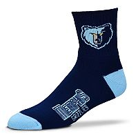 Adult For Bare Feet Memphis Grizzlies Team Color Quarter-Crew Socks