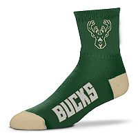 Adult For Bare Feet Milwaukee Bucks Team Color Quarter-Crew Socks