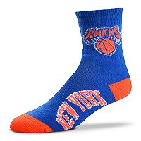 Adult For Bare Feet New York Knicks Team Color Quarter-Crew Socks