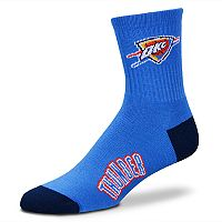 Adult For Bare Feet Oklahoma City Thunder Team Color Quarter-Crew Socks