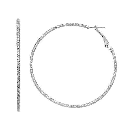 Simply Vera Vera Wang Textured Nickel Free Hoop Earrings