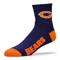 Adult For Bare Feet Chicago Bears Team Color Quarter-Crew Socks