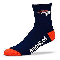 Adult For Bare Feet Denver Broncos Team Color Quarter-Crew Socks