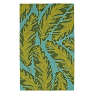 Kaleen Yunque Kona Leaf Indoor Outdoor Rug