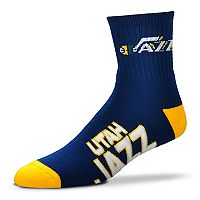 Adult For Bare Feet Utah Jazz Team Color Quarter-Crew Socks