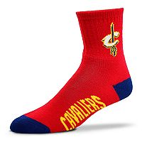 Adult For Bare Feet Cleveland Cavaliers Team Color Quarter-Crew Socks