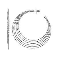 Simply Vera Vera Wang Twisted Nickel Free Tiered Hoop Earrings