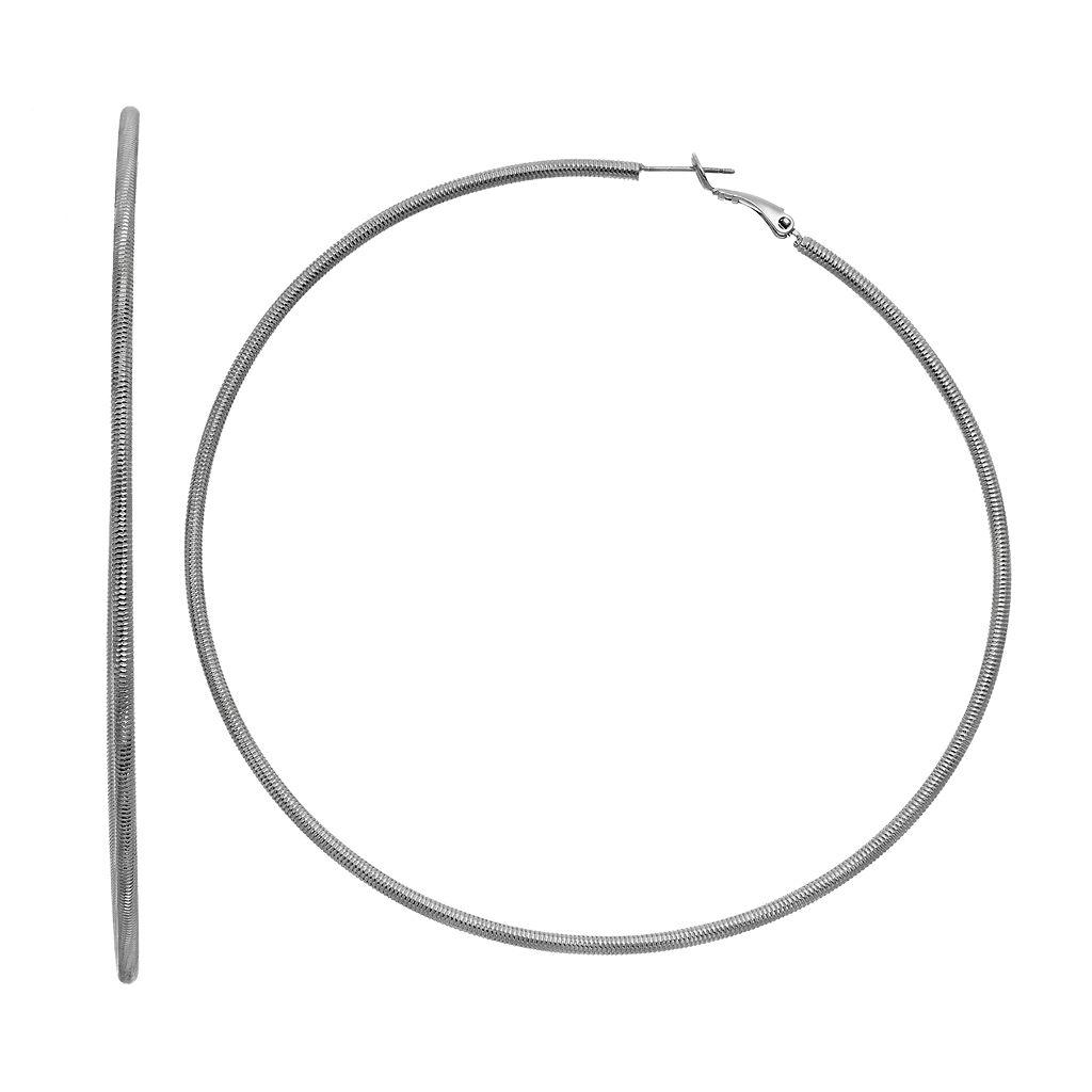 Simply Vera Vera Wang Snake Chain Nickel Free Hoop Earrings