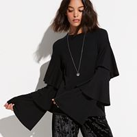 k/lab Tiered Flare Sleeve Top
