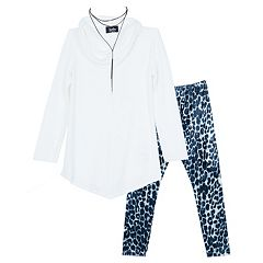 Girls 7-16 & Plus Size IZ Amy Byer Cowlneck Sweater Tunic & Leggings Set with Necklace