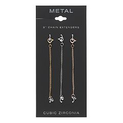 Cubic Zirconia Necklace Extender Set