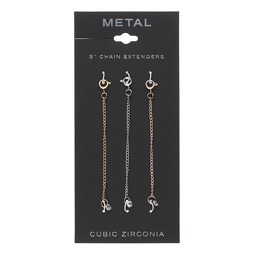 Cubic Zirconia Necklace Extender Set