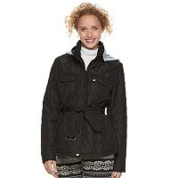 Juniors' Urban Republic Hooded Quilted Coat