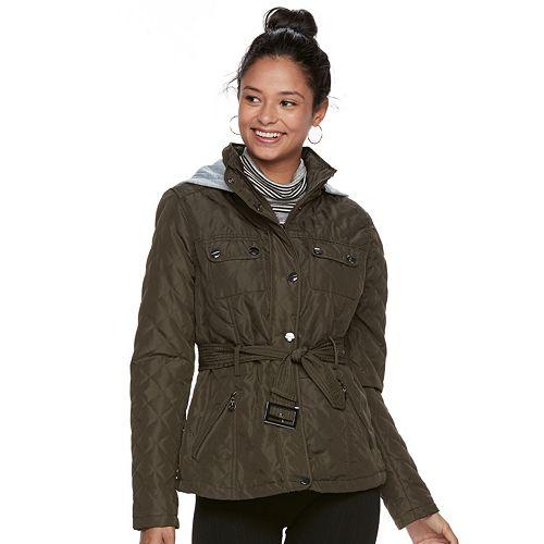Juniors' Urban Republic Hooded Quilted Coat