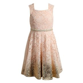 Girls 7-16 Emily West Allover Lace Ombre Dress