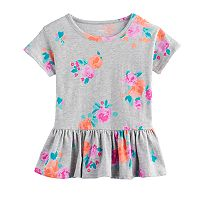 Girls 4-12 SONOMA Goods For Life™ Peplum Printed Tee