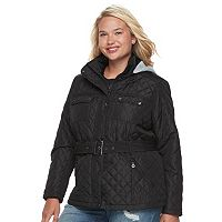 Juniors' Plus Size Urban Republic Hood Quilted Coat