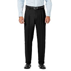 Men's J.M. Haggar Premium Classic-Fit Stretch Sharkskin Pleated Dress Pants